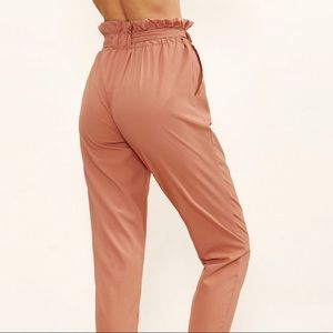 Blush Paper bag crop pants